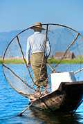 Entrapment Posters - Inle lake - Myanmar Poster by Luciano Mortula