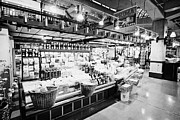 inside lonsdale quay market shopping mall north Vancouver BC Canada Print by Joe Fox