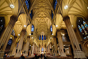 Mass Framed Prints - Inside St Patricks Cathedral New York City Framed Print by Amy Cicconi