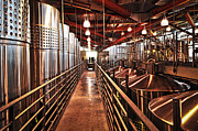 Winemaking Photo Metal Prints - Inside winery Metal Print by Elena Elisseeva
