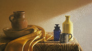 Earth Tones Pastels Metal Prints - Inspired by Vermeer Metal Print by Barbara Groff