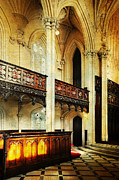 Gothic Revival Framed Prints - Interior of Gothic Revival Chapel. Streets of Dublin.Gothic Collection Framed Print by Jenny Rainbow