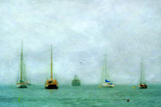 Dinghy Photos - Into The Fog by Darren Fisher