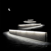 Black And White - Into The Night II by Ben and Raisa Gertsberg