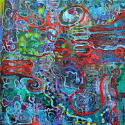 Molecule Paintings - Ipn by Regina Valluzzi