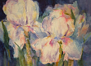Blurred Paintings - Irises of Many Colors by Sharon K Wilson