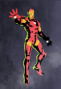 Superheroes Prints - Iron Man  Print by Mark Ashkenazi