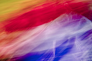 Abstract Art Greeting Cards Prints - Is it the Flag Print by Jon Glaser