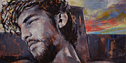Crucifix Paintings - It Is Finished by Michael Creese