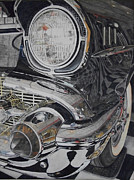 57 Chevy Painting Framed Prints - It Was A Very Good Year-Two Framed Print by Brenda McCollum