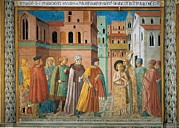 Religious Dress Framed Prints - Italy, Umbria, Perugia, Montefalco, San Framed Print by Everett