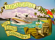 Jimmy Buffett Mixed Media - Its 5 OClock Somewhere by Claudette Armstrong