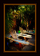Beach Chairs Photo Framed Prints - Its Margarita Time in Paradise Framed Print by Susanne Van Hulst