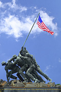 Bravery Prints - Iwo Jima Memorial Print by Allen Beatty