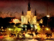 Saint Louis Mixed Media - Jackson Square New Orleans by James Stough