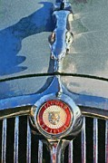 Vintage Hood Ornament Painting Prints - Jaguar 3.8 S Type 1966 badge Print by George Atsametakis