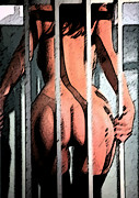 Sex Drawings Posters - Jail Time Poster by Esoteric Desires