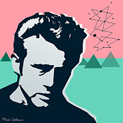 80s Digital Art Prints - James Dean Print by Mark Ashkenazi