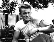 James Photo Prints - James Dean Poster Print by Sanely Great