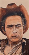 Cowboy Hat Paintings - James Dean by Shirl Theis