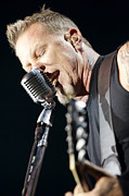 Metallica Photo Posters - James Hetfield Poster by Ben Johnson