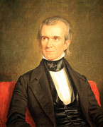 Cora Wandel Framed Prints - James K. Polk Framed Print by Cora Wandel
