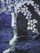 Sakura Paintings - Japanese Cherry Blossom by Katie Slaby