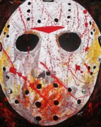Hockey Painting Originals - Jason by Jeremy Moore