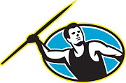 Throw Art - Javelin Throw Track and Field Athlete by Aloysius Patrimonio