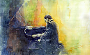 Piano Paintings - Jazz Herbie Hancock  by Yuriy Shevchuk