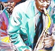 Forties Paintings - Jazz Jam 1940s by Jonathan Tyson