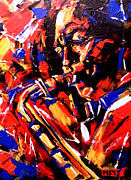 Original Paining Paintings - Jazz Man by Marina Joy