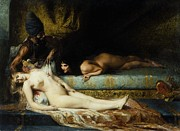Harem  Paintings - Jealousy by Pg Reproductions