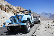 Pakistan Framed Prints - Jeeps on the Karakorum Highway Framed Print by Robert Preston