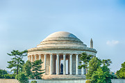 Thomas Jefferson Prints - Jefferson Memorial Print by Ray Warren