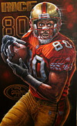 Sports Art World Wide John Prince - Jerry Rice Original...