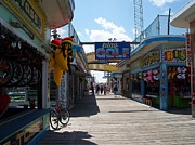 Corn Dogs Framed Prints - Jersey Shore Boardwalk Framed Print by Lawrie Morello