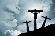 Gospel Photo Prints - Jesus Christ crucified in Golgotha Print by Jose Elias - Sofia Pereira