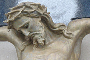 Religious Prints Photos - Jesus - Christian Art - Religious Statue of Jesus by Kathy Fornal