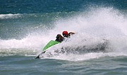 Watercraft Photos - Jet Ski Riders in the Sea by Yali Shi