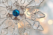 Terry L Ellis Prints - Jeweled Snowflake Print by Terry Ellis
