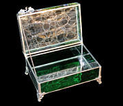 Jewelry Glass Art - Jewelry Box by Julie Turner