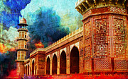 Red Buildings Framed Prints - Jhangir Tomb Framed Print by Catf