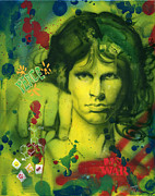 Addict Paintings - Jim Morrison by Luis  Navarro