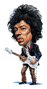 Art  Prints - Jimi Hendrix Print by Art