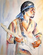 Rock And Roll Painting Originals - Jimi Hendrix by Brian Degnon
