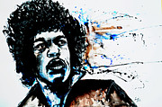 Gruenwald Digital Art Framed Prints - Jimi Hendrix  Framed Print by Ismeta Gruenwald