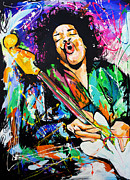 Strat Painting Originals - Jimi Hendrix by Richard Day