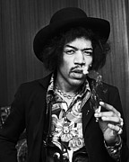 Limited Edition Art - Jimi Hendrix Smoking by Chris Walter