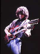 Jimmy Page Prints - Jimmy Page 1983 Print by Chris Walter